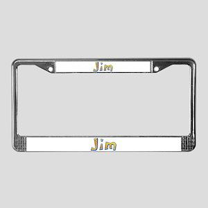 Jim Giraffe License Plate Frame