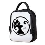 Yin Yang Cat Neoprene Neoprene Lunch Bag