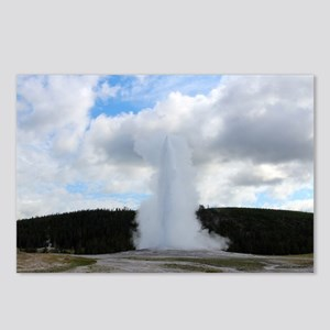 Old Faithful Photo at Yel Postcards (Package of 8)
