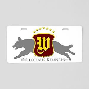 WHK Logo Gray Aluminum License Plate