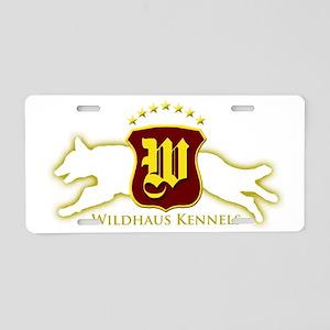 WHK Logo Yellow Spray Aluminum License Plate