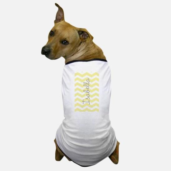 Personalized yellow chevron Dog T-Shirt
