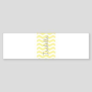 Personalized yellow chevron Bumper Sticker
