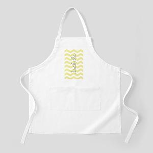 Personalized yellow chevron Apron