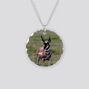 Pronghorn by in Meadow Necklace Circle Charm