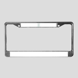 Custom name gray chevron License Plate Frame