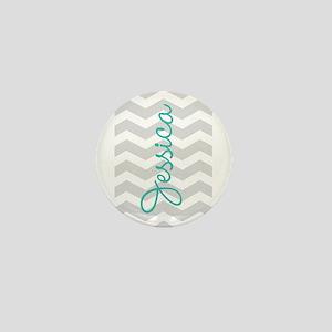 Custom name gray chevron Mini Button