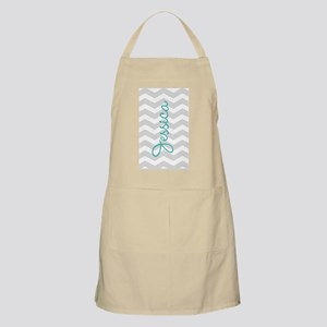 Custom name gray chevron Apron