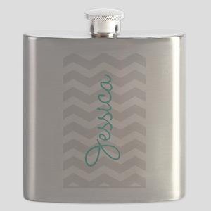 Custom name gray chevron Flask