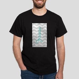 Custom name gray chevron T-Shirt