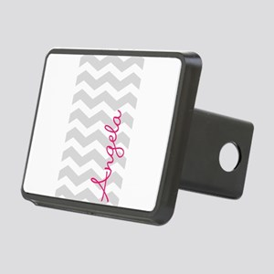 Personal name grey chevron Rectangular Hitch Cover
