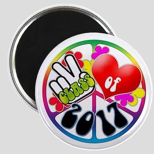 Peace Love 2017 Magnet