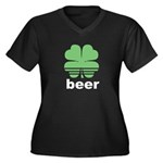 Beer Charm Women's Plus Size V-Neck Dark T-Shirt