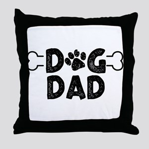 Dog Dad Throw Pillow