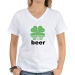 Beer Charm Women's V-Neck T-Shirt