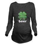 Beer Charm Long Sleeve Maternity T-Shirt