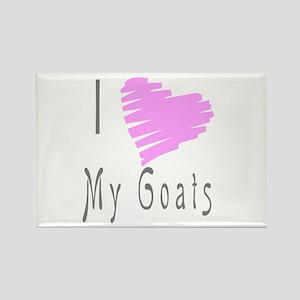 I heart my goat Rectangle Magnet