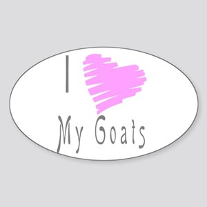 I heart my goat Oval Sticker