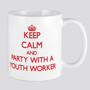 Keep Calm and Party With a Youth Worker Mugs