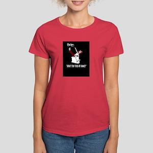 Women's Black tee shirt,Parker does the Teaser !