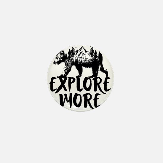 Explore More Bear Woods Mini Button
