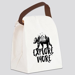 Explore More Bear Woods Canvas Lunch Bag