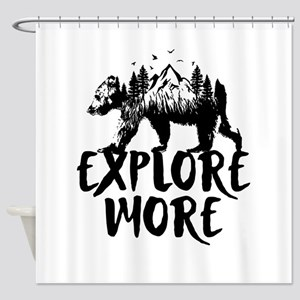 Explore More Bear Woods Shower Curtain