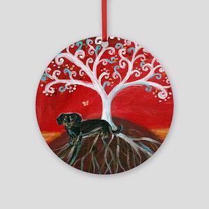 Dachshund Tree of Life Ornament (Round)