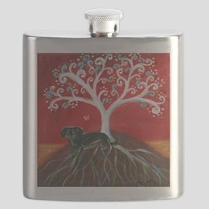 Dachshund Tree of Life Flask