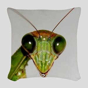 Preying Mantis Eyes Woven Throw Pillow