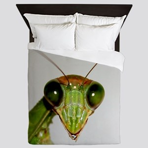 Preying Mantis Eyes Queen Duvet
