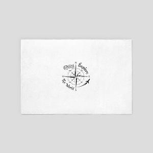 Explore The World Compass 4' x 6' Rug