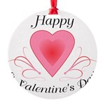 Happy Valentines Day with a Heart Ornament