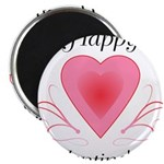 Happy Valentines Day with a Heart Magnets