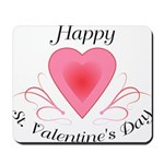 Happy Valentines Day with a Heart Mousepad