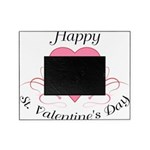 Happy Valentines Day with a Heart Picture Frame