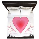 Happy Valentines Day with a Heart King Duvet