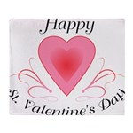 Happy Valentines Day with a Heart Throw Blanket