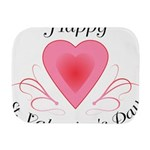 Happy Valentines Day with a Heart Burp Cloth