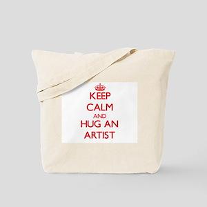 Keep Calm and Hug an Artist Tote Bag