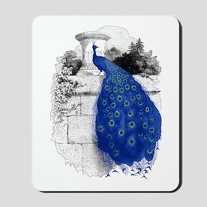 Blue Peacock Mousepad