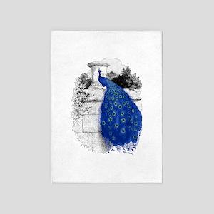 Blue Peacock 5'x7'Area Rug