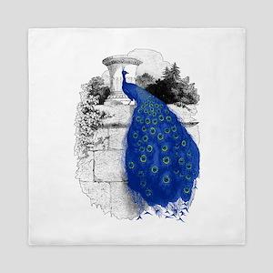 Blue Peacock Queen Duvet