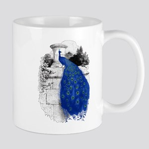 Blue Peacock Mugs