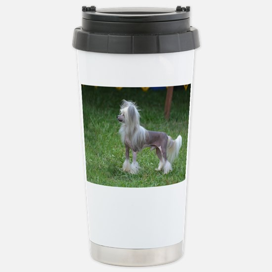 Small Chinese Crested D Stainless Steel Travel Mug