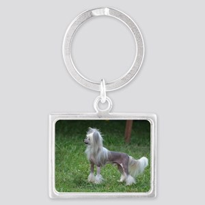 Small Chinese Crested Dog Landscape Keychain