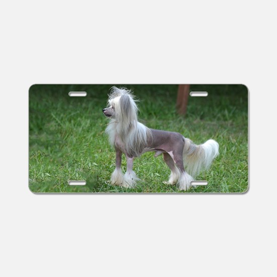 Small Chinese Crested Dog Aluminum License Plate