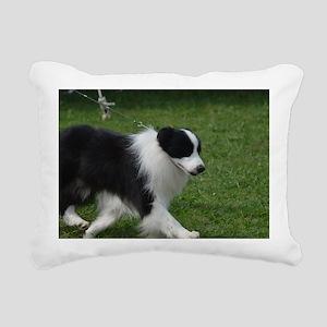 Adorable Border Collie Rectangular Canvas Pillow