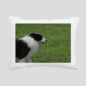 Pet Border Collie Rectangular Canvas Pillow