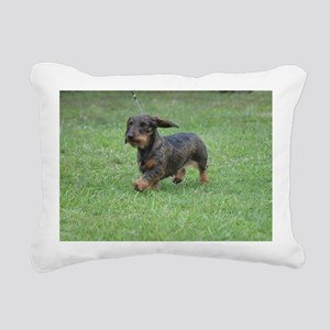 Cute Wire Haired Dachshu Rectangular Canvas Pillow